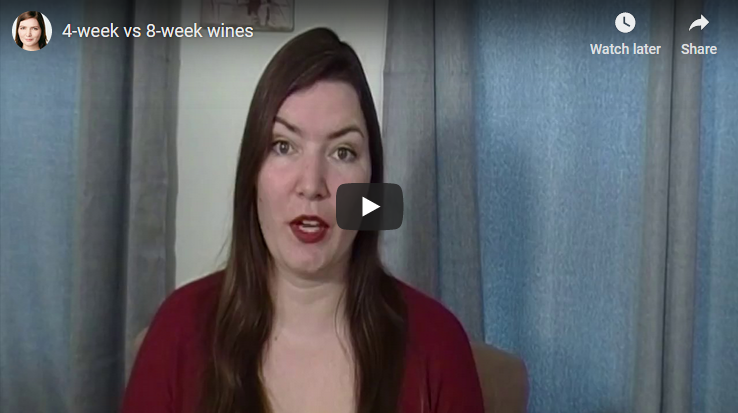 4-week vs 8-week wines